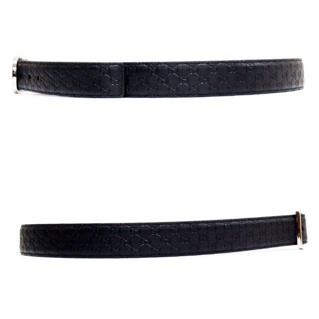 Gucci(グッチ)の27 GUCCI ブラック マイクログッチシマ GG レザー ベルト90/36 メンズのファッション小物(ベルト)の商品写真