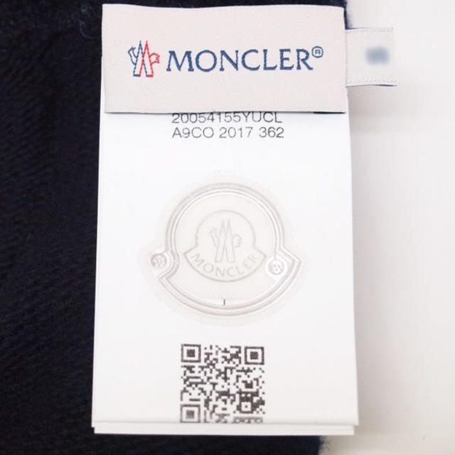 MONCLER(モンクレール)の14 MONCLER ロゴワッペンWOOL100%レディースネイビー手袋M レディースのファッション小物(手袋)の商品写真