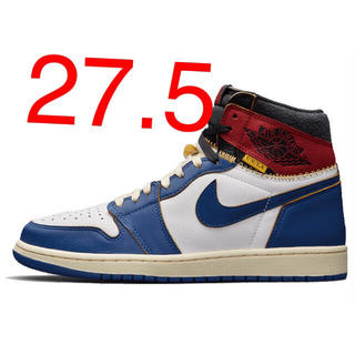 ナイキ(NIKE)のUNION AIR JORDAN1 BLUE 27.5cm(スニーカー)