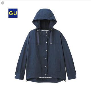 ジーユー(GU)の美品✳︎GU ジーユー マウンテンパーカー ネイビー 紺 M(ブルゾン)