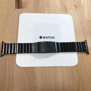 アップルウォッチ(Apple Watch)の純正 apple watch 38mm リンクブレスレット スペースブラック(金属ベルト)