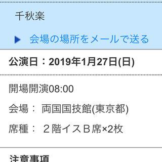 大相撲初場所 千秋楽 1/27 イス席(椅子席)ペアチケット (相撲/武道)