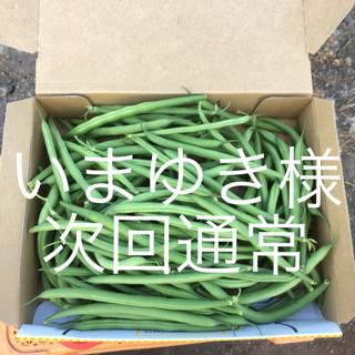鹿児島産サヤインゲン500g^_^次回通常(野菜)