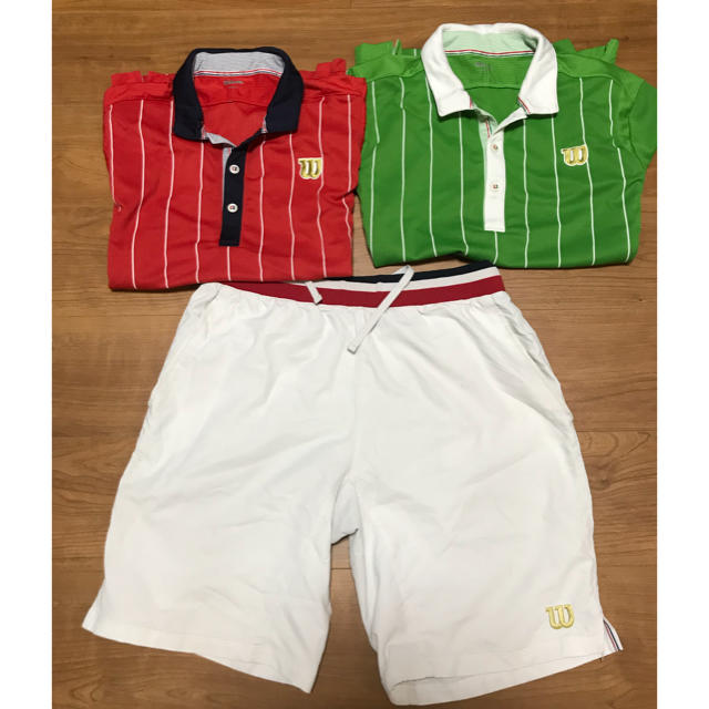 wilson(ウィルソン)のウィルソン/ゲームウェアセット3点 スポーツ/アウトドアのテニス(ウェア)の商品写真