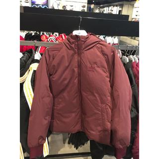 アディダス(adidas)のアディダス三葉草冬の暖かいコートのスポーツたっぷりのキャップ女性の羽毛ジャケット(ダウンジャケット)