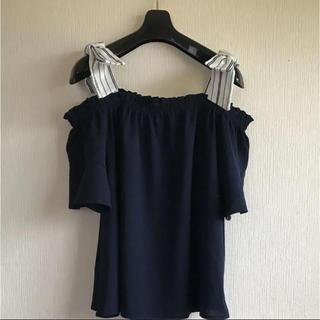 シマムラ(しまむら)の肩リボンが可愛い(*´︶`*)♡オフショルダートップス(カットソー(半袖/袖なし))