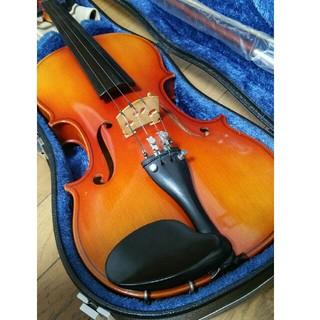 鈴木 国産 バイオリン No.300 証明ラベル有 ケース 弓 松脂 肩当セット
