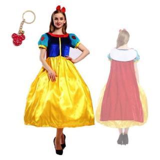 ディズニー(Disney)の白雪姫 ディズニー コスプレ 衣装 ドレス クリスマス 大人 (M,L 黄色)(衣装一式)