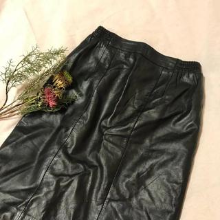 マザー(mother)のvintage leatherskirt(ひざ丈スカート)