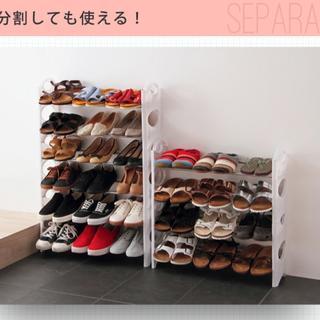 ★シューズラック★ 10段 収納 靴箱 シューズボックス 下駄箱 (玄関収納)