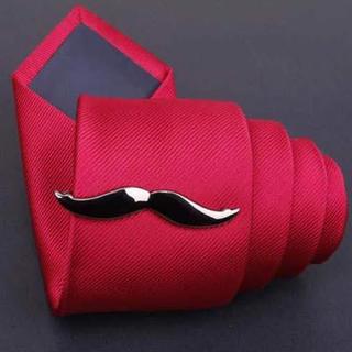 【口髭 ネクタイピン】黒髭 タイピン ネクタイ カフスボタン カフス ヒゲ(ネクタイピン)