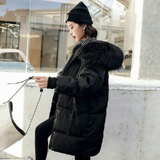 新しいダウンジャケットルーズ大サイズロングファッションダウンジャケット(ロングワンピース/マキシワンピース)