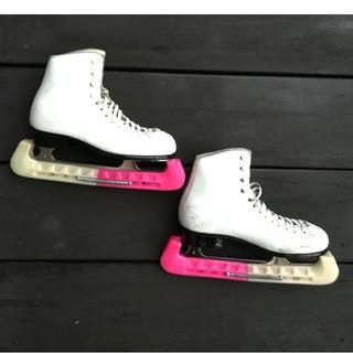 20.0cm☆ZAIRASフィギュアスケート靴白☆エッジカバー付き☆ザイラス(ウインタースポーツ)