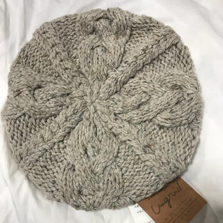 アングリッド(Ungrid)の新品タグ付き アングリッド グレー ニットベレー帽(ハンチング/ベレー帽)