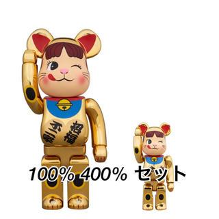 BE@RBRICK 招き猫 ペコちゃん 金メッキ 弐 100% 400%