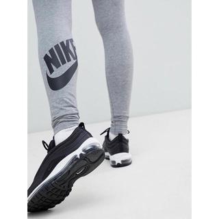 ナイキ(NIKE)の【Mサイズ 】新品タグ付き Nike レッグアシー ロゴ レギンス グレー(レギンス/スパッツ)