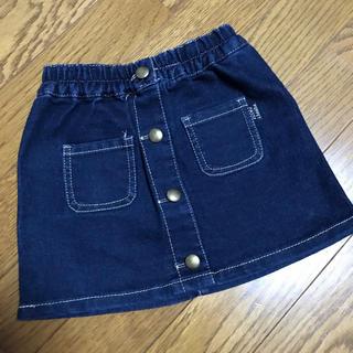 シマムラ(しまむら)のフロントボタンストレッチデニムスカート95cm(スカート)
