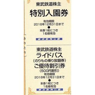 【投売り】東武動物公園 入園券 【2枚】 12月末迄(動物園)
