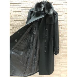 バーバリー(BURBERRY)の新品同様 バーバリー  ロンドン ファー付き ロングコート 美品 日本製 羊毛(ロングコート)