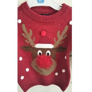 ネクスト(NEXT)の新品未使用 next クリスマスセーター9~12month(ニット/セーター)