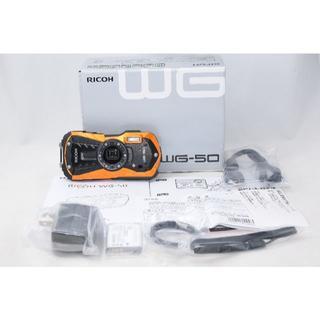 リコー(RICOH)の0116様専用 展示品☆リコー RICOH WG-50 オレンジ(コンパクトデジタルカメラ)