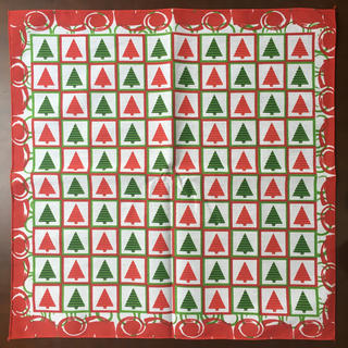 ハバハンクhavahank米国製バンダナ☆クリスマスチェッカーズ(バンダナ/スカーフ)