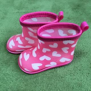 キッズフォーレ(KIDS FORET)のKids Foret ハート柄 長靴/レインシューズ(長靴/レインシューズ)