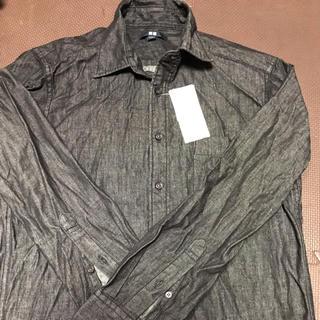 ユニクロ(UNIQLO)のユニクロ UNIQLO メンズ 長袖 デニムシャツ ブラック S(シャツ)