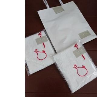 ムジルシリョウヒン(MUJI (無印良品))の売り切れ。無料に!天衣無縫 ハンドタオル ハンカチ!オーガニック。にわとり。(ハンカチ)