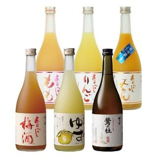 梅乃宿 あらごしシリーズ&梅酒 720ml×6本(リキュール/果実酒)