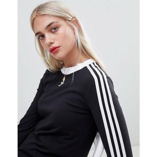アディダス(adidas)の【Mサイズ】新品未使用タグ付き adidas 3ストライプ ロングスリーブ(Tシャツ(長袖/七分))