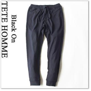 テットオム(TETE HOMME)のBlack on テットオム しなやかな履き心地 ポンチ素材 ジョガーパンツ (その他)