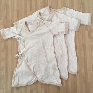 ムジルシリョウヒン(MUJI (無印良品))の無印良品 オーガニックコンビ肌着 3枚セット(肌着/下着)