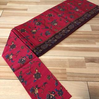 オリエンタルな雰囲気の名古屋帯 正絹(帯)