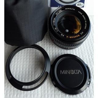 コニカミノルタ(KONICA MINOLTA)の明るい単焦点レンズMinolta PG Rokkor-X 50mm F1.4(レンズ(単焦点))