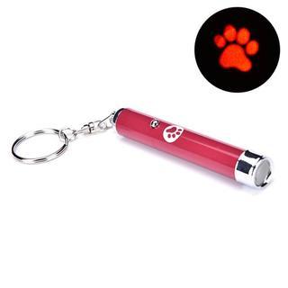 猫のおもちゃ♪ ☆赤・肉球☆ お得な交換用電池3個お付け致します♪ (001)(猫)