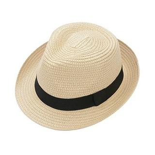 折りたたみ可能 メンズ 帽子 ストローハット(麦わら帽子/ストローハット)