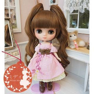 ミディブライス ウィッグ 姫バングツーテール MB 7.5インチ Blythe(人形)