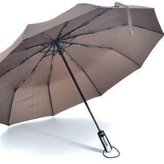 新品 折り畳み傘 ワンタッチ自動開閉 10本骨 1.05m 晴雨兼用 ブラウン(傘)