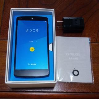 エルジーエレクトロニクス(LG Electronics)のnexus5 LG D821 32GB ホワイト simフリー 完動品(スマートフォン本体)