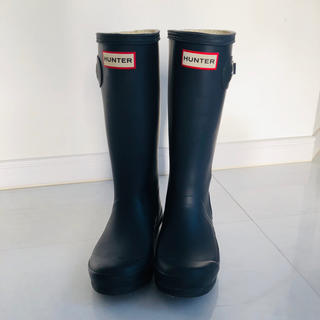 ハンター(HUNTER)のハンター オリジナルキッズ レインブーツ UK1  20センチ ネイビー(長靴/レインシューズ)