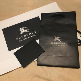 バーバリーブラックレーベル(BURBERRY BLACK LABEL)のあんぱんまん様専用 バーバリー 袋 ショップ袋 メッセージカード(ショップ袋)