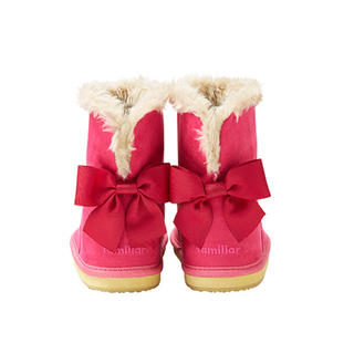ファミリア(familiar)の1回使用のみファミリア 15cmリボンブーツ定価8640円(ブーツ)