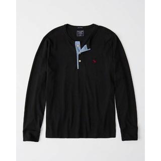 Abercrombie&Fitch - 1808 アバクロ ヘンリー 長袖Tシャツ BK サイズM