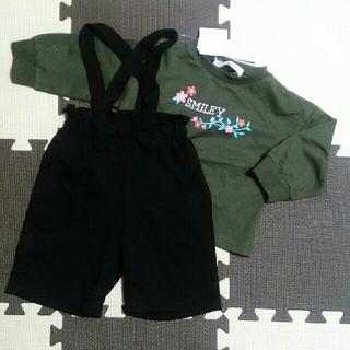 シマムラ(しまむら)の新品タグ付き ロンT×パンツ 2点セット(Tシャツ/カットソー)