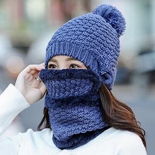 ニット帽 防寒マスク スヌード 3点セット   オシャレ スノボ スキー(ニット帽/ビーニー)