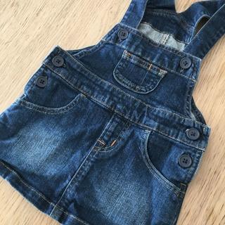 ムジルシリョウヒン(MUJI (無印良品))の無印良品 ジャンパースカート デニム サイズ80(スカート)