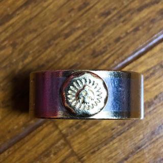 ゴローズ(goro's)のwingrock 平打ちリングk18 シルバーコンビ ウイングロック(リング(指輪))
