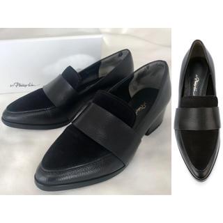 スリーワンフィリップリム(3.1 Phillip Lim)の美品 36.5 フィリップリム Quinn ローファー 黒(ローファー/革靴)