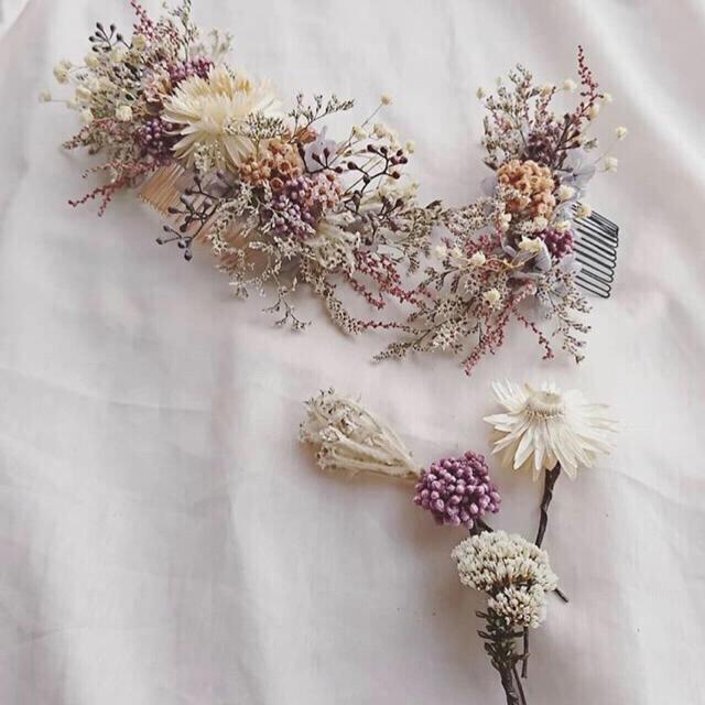 Kastane - 髪飾り オーダー ドライフラワーの通販 by O N ℃ |カスタネならラクマ
